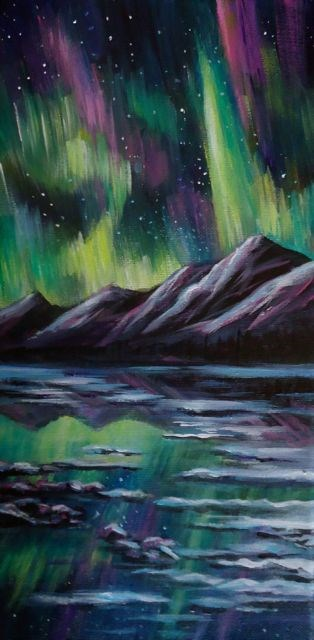 """Yukon Reflections"" original fine art by Jackie Irvine"