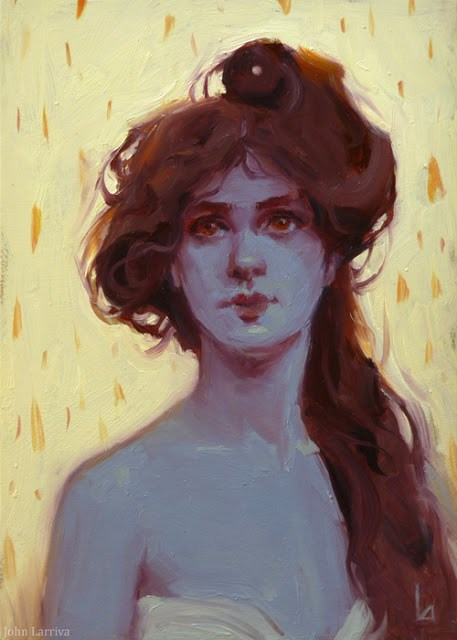 """Cinder"" original fine art by John Larriva"
