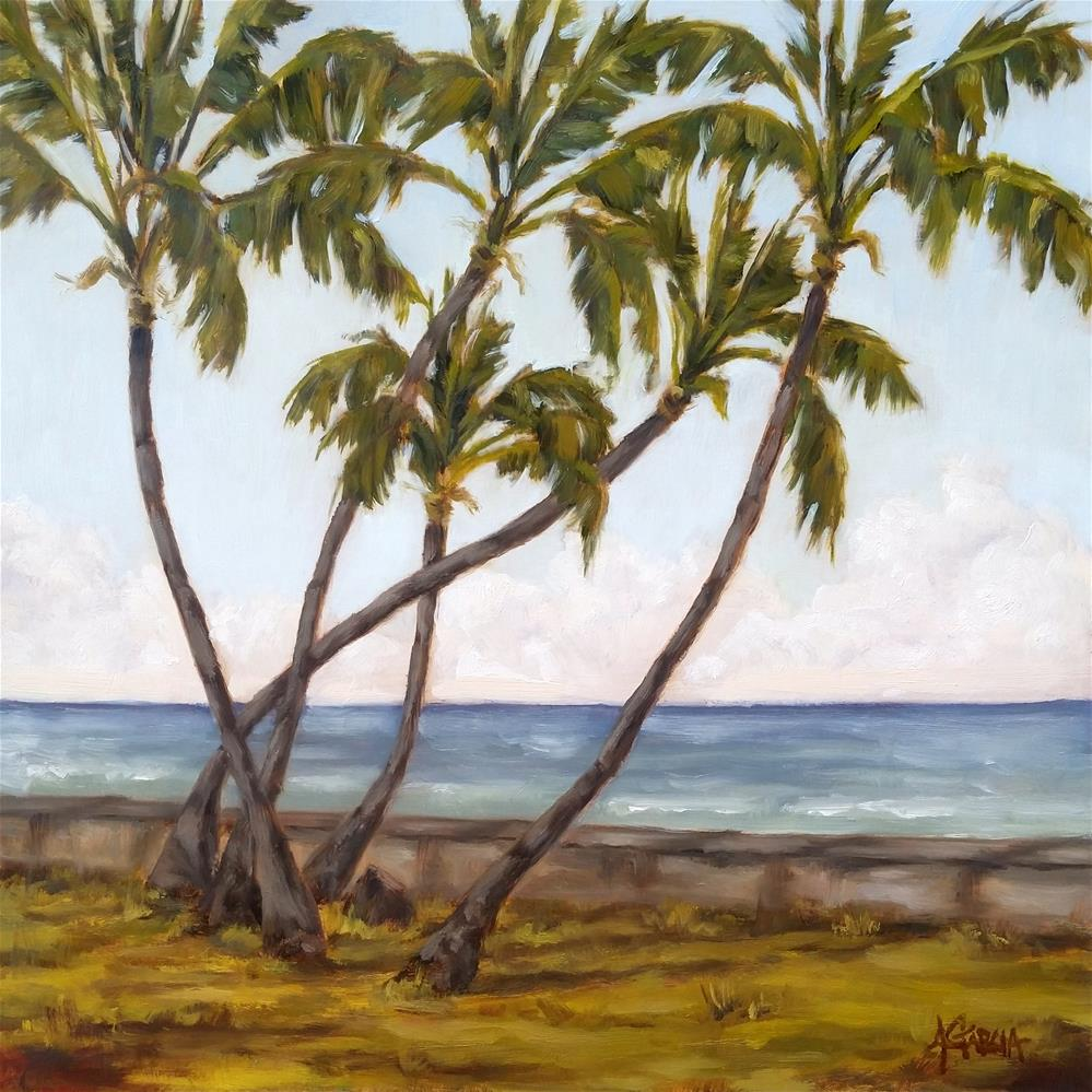 """Five Palms"" original fine art by Jeannie Garcia"