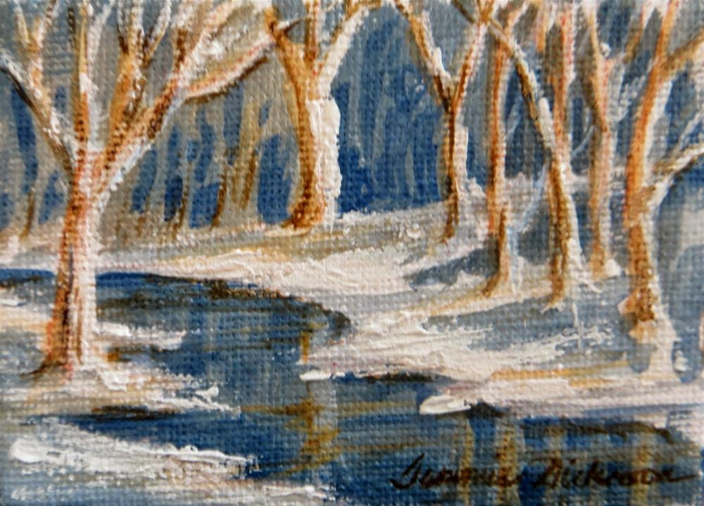 """Winter's Peace - miniature"" original fine art by Tammie Dickerson"