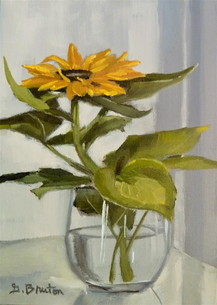 """Sunflower"" original fine art by Gary Bruton"
