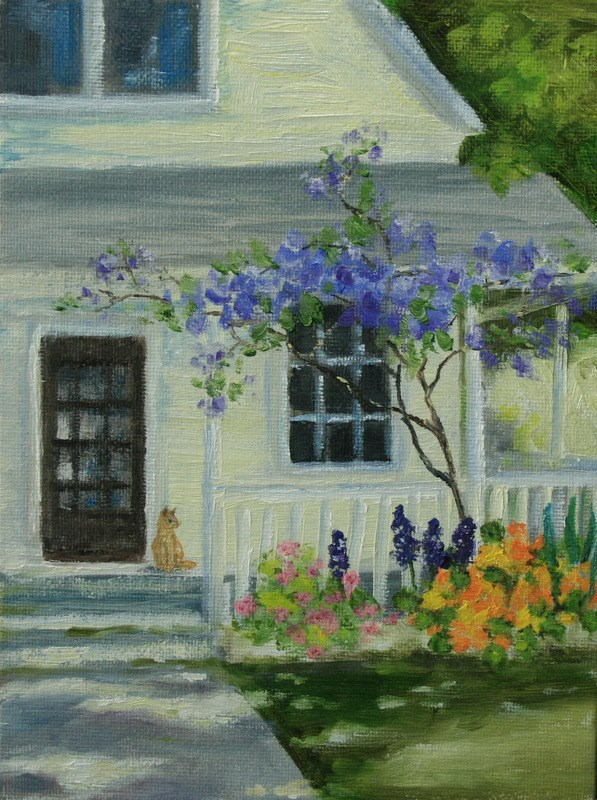 """Front Porch"" original fine art by Jean Nelson"