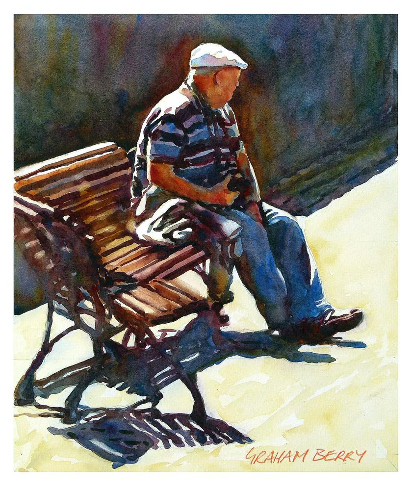 """Bench 4"" original fine art by Graham Berry"