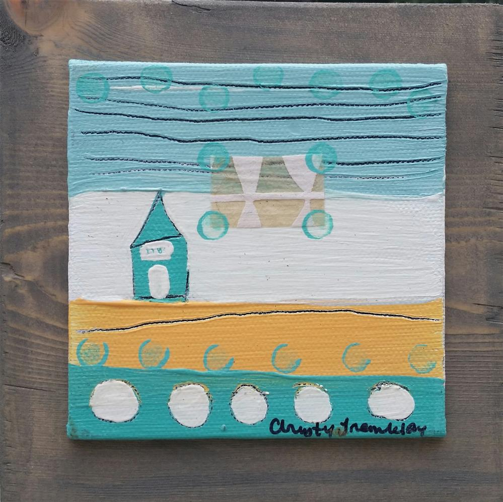 """Turquoise 1 House #79"" original fine art by Christy Tremblay"