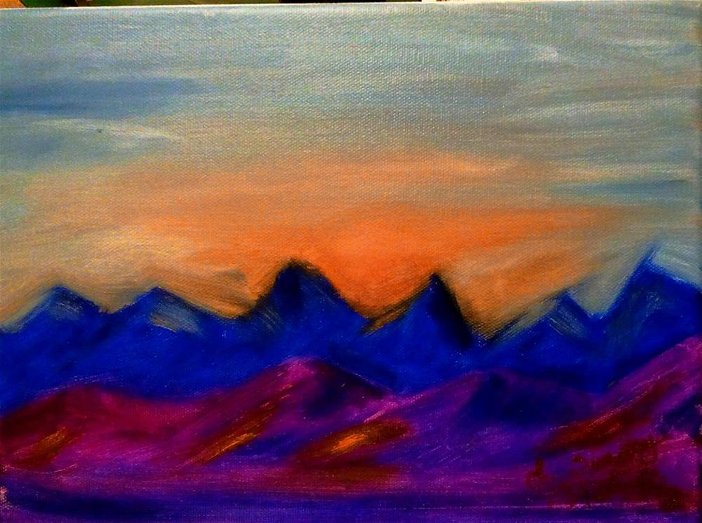 """Sunset at victory"" original fine art by Lanette Hastings"