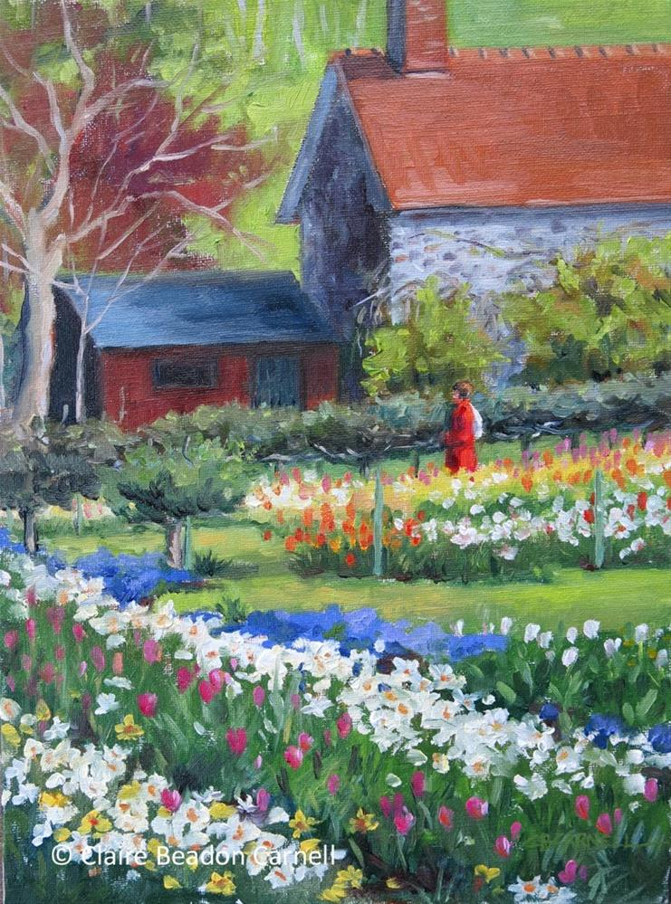 """SOLD France Series 'Spring in Giverny' An Original Oil Painting by Claire Beadon Carnell"" original fine art by Claire Beadon Carnell"