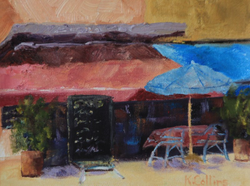 """Let's Have Lunch"" original fine art by Kathy Collins"