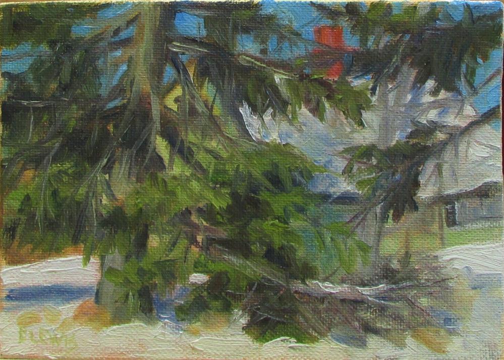 """Winter Damage"" original fine art by Christine Lewis"