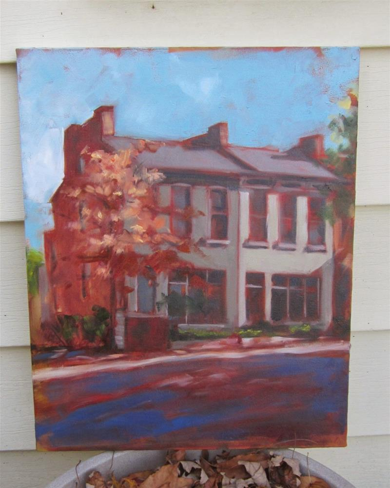 """Lafayette Park houses"" original fine art by Sandy Haynes"