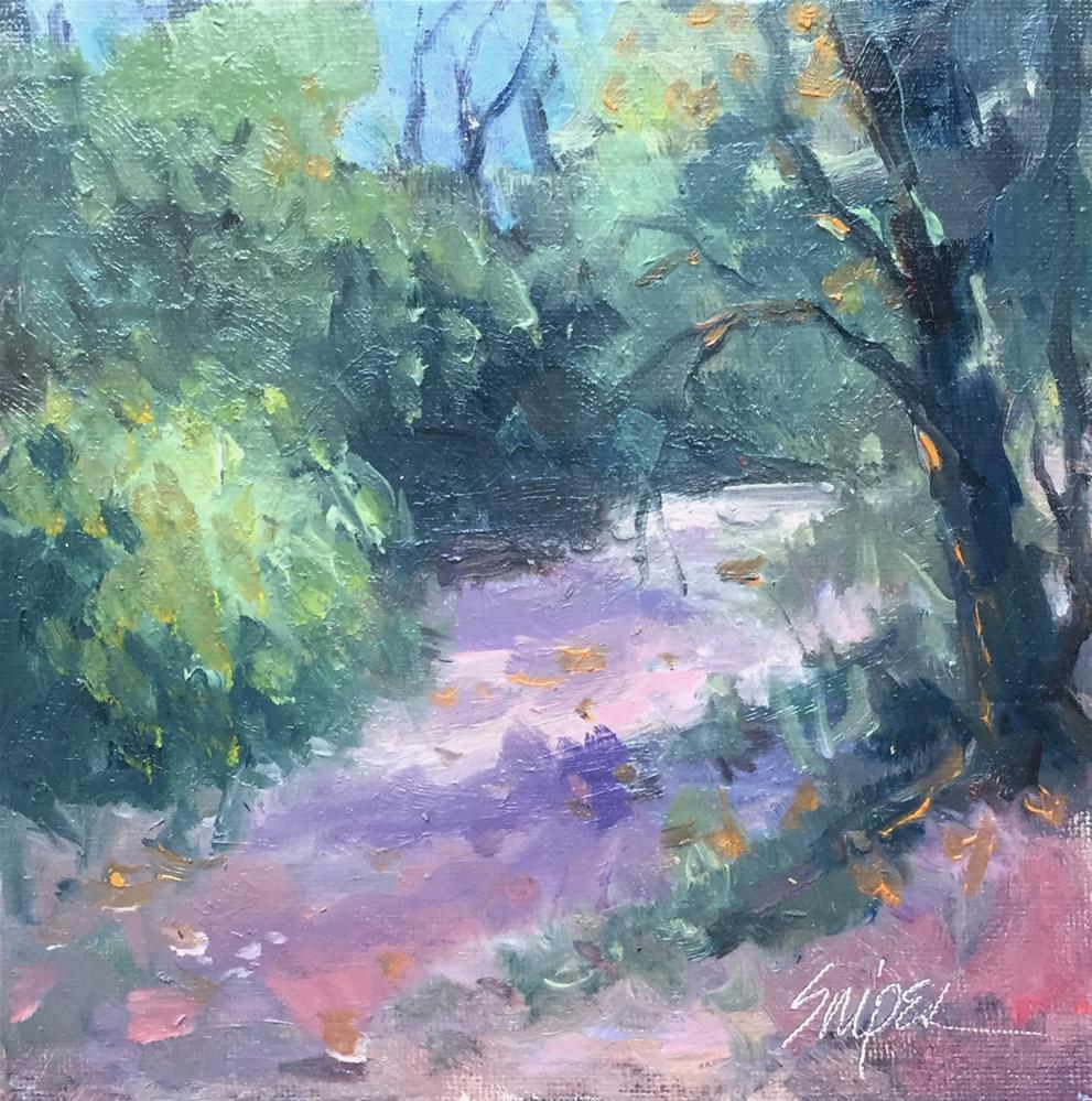 """A Path Around the Park"" original fine art by Connie Snipes"