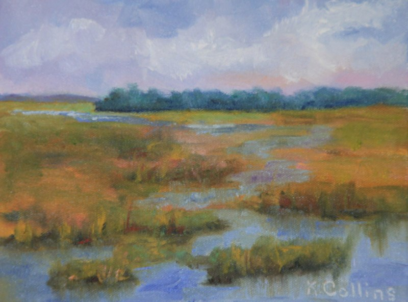 """Fall Colors on the Marsh"" original fine art by Kathy Collins"