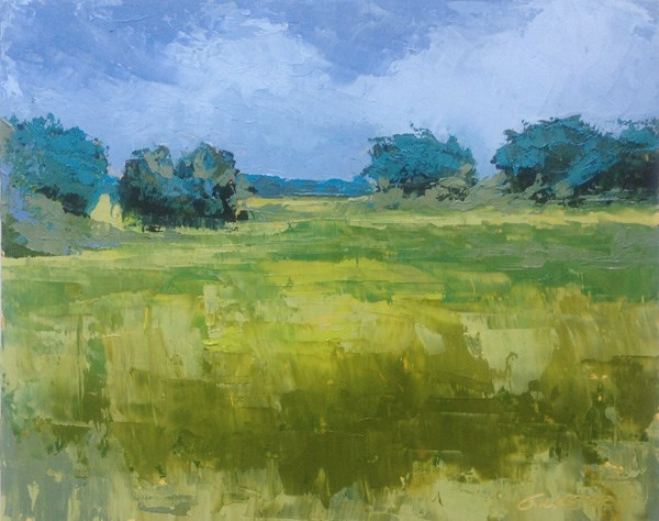 """Marsh, Coming Storm"" original fine art by Mary Gilkerson"