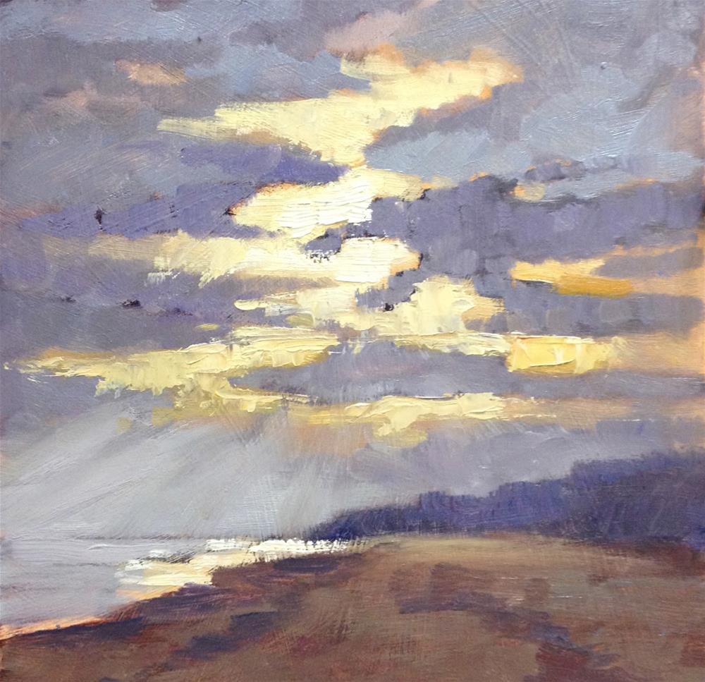 """""""Day 21 of 30 Early Sun"""" original fine art by Mo Teeuw"""