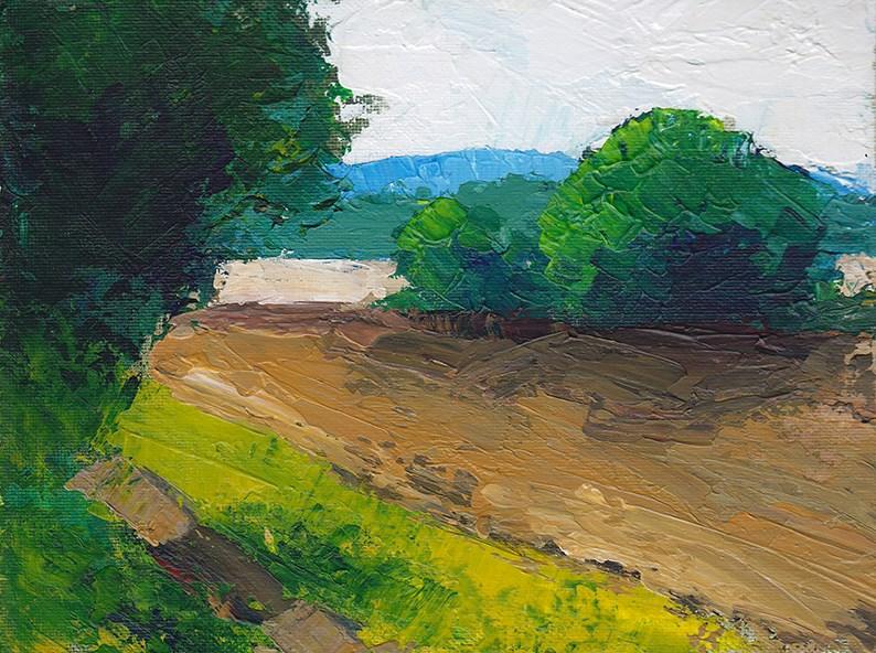 """The Landscrape"" original fine art by J M Needham"