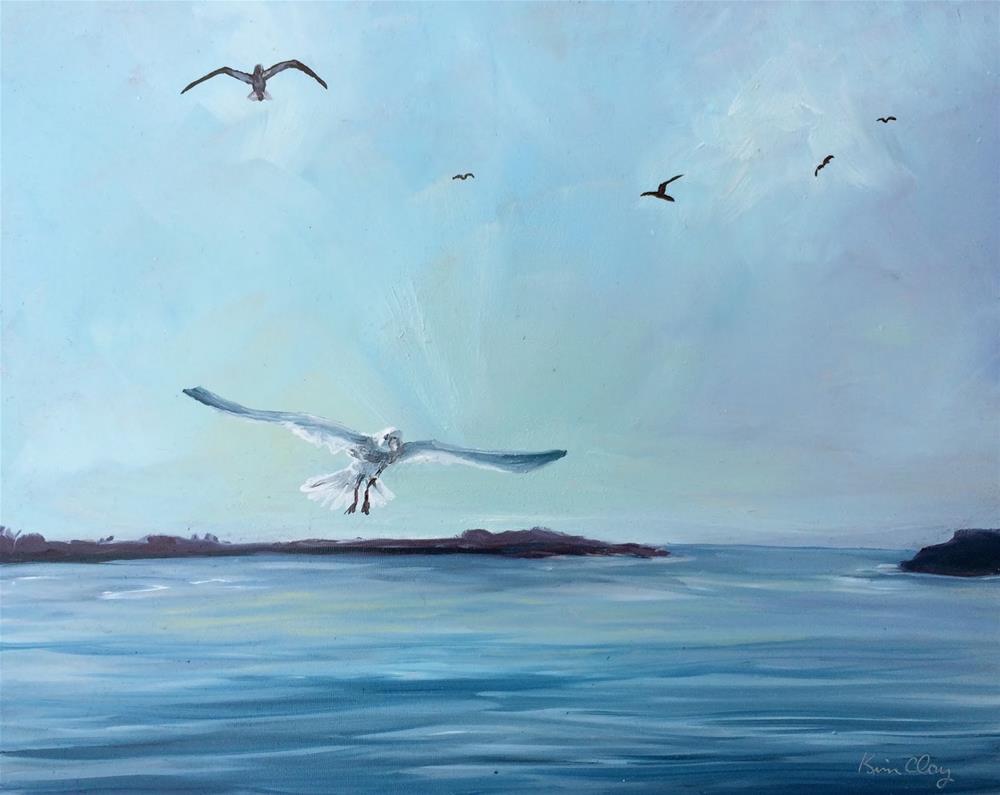 """The Birds"" original fine art by Kim Clay"