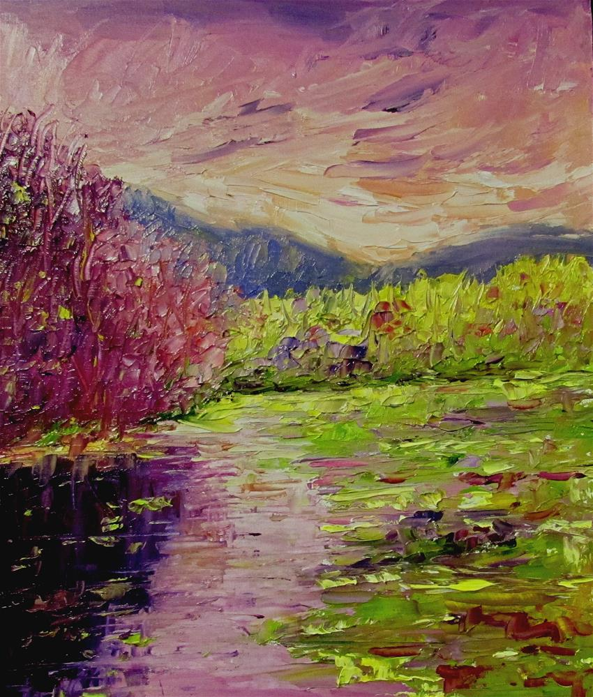 """8 x 10 inch oil Creekside #2"" original fine art by Linda Yurgensen"