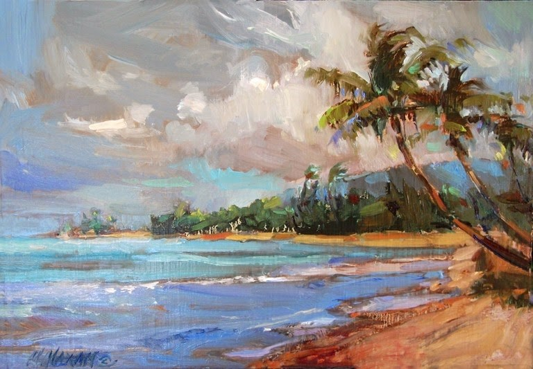 """Another Breezy Beach Day"" original fine art by Mary Maxam"
