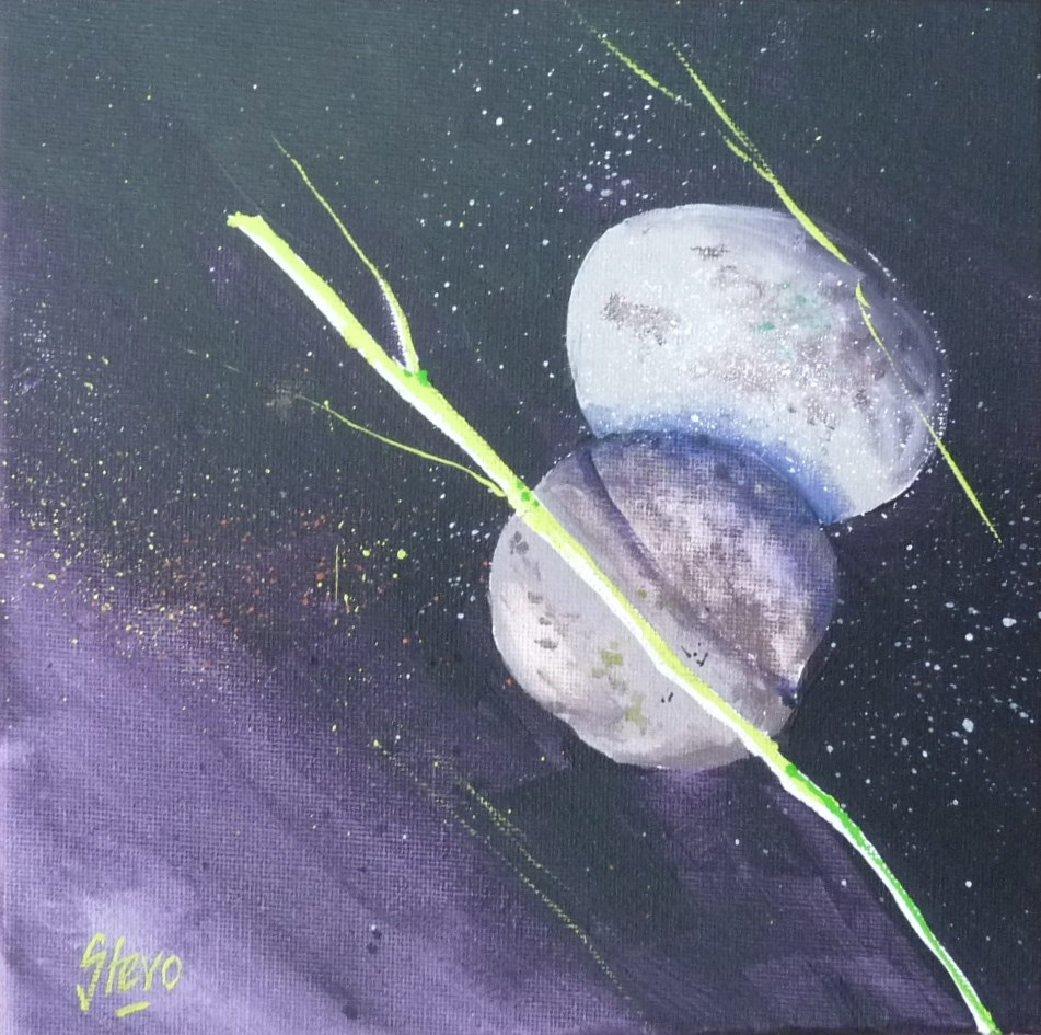 """Pebbles and Grass I"" original fine art by Martin Stephenson"