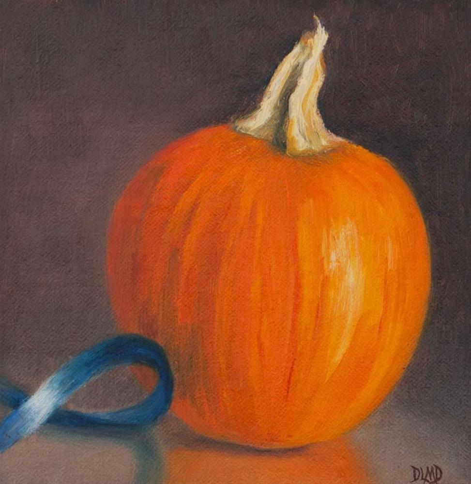 """Orange Globe"" original fine art by Debbie Lamey-Macdonald"