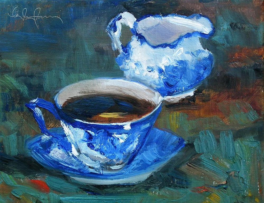 """Not Just a Cup...."" original fine art by kay  keyes farrar"