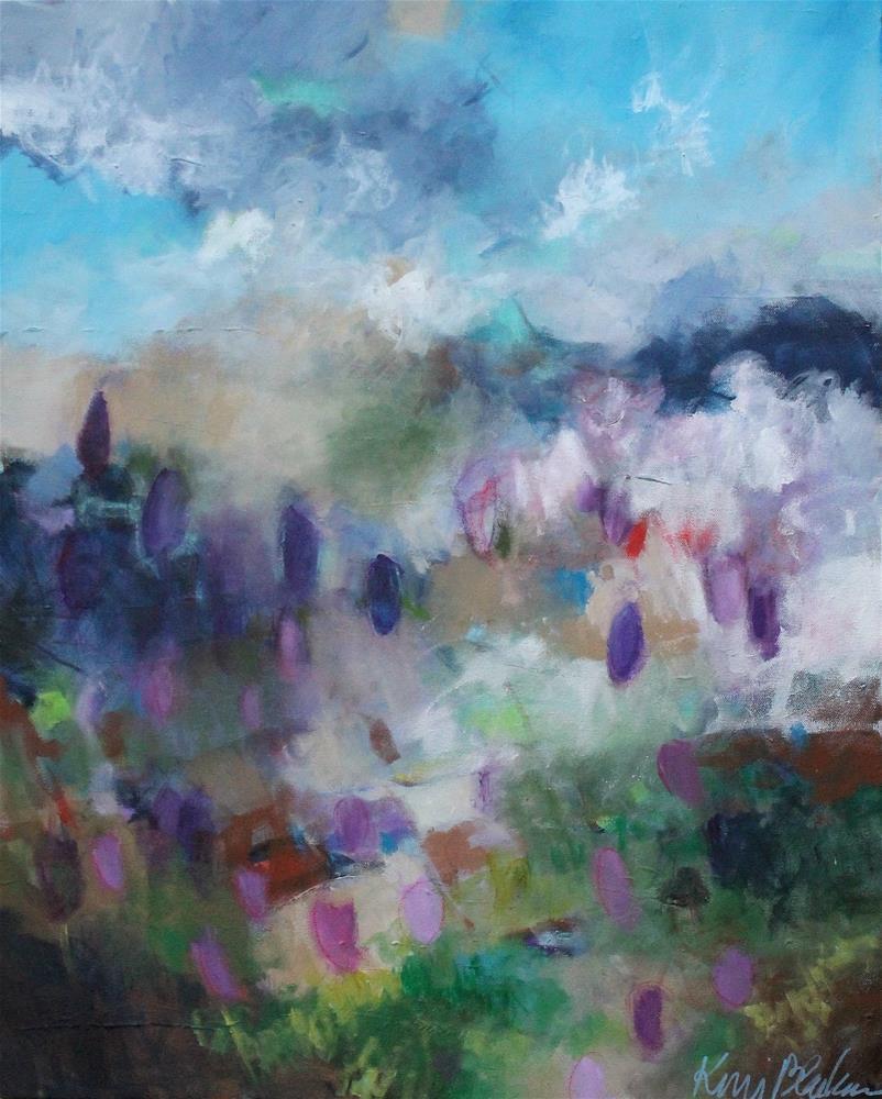 """Crocus Fields "" original fine art by Kerri Blackman"