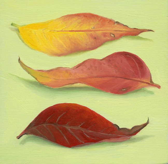"""Fall Leaves II"" original fine art by Jean Wilkey"