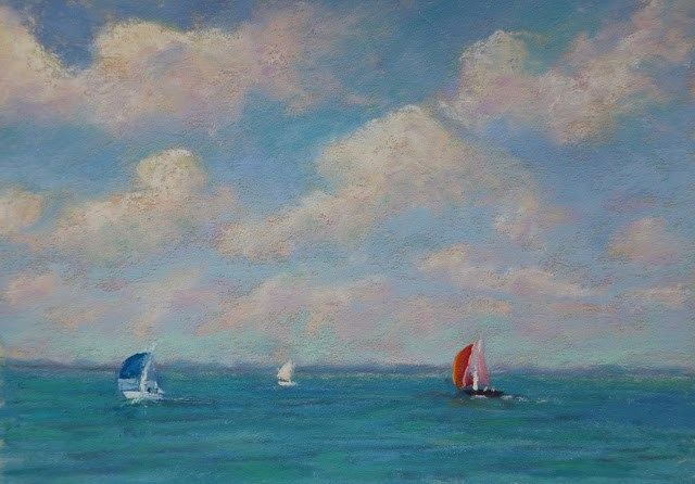 """Sailing Time"" original fine art by Sharon Lewis"