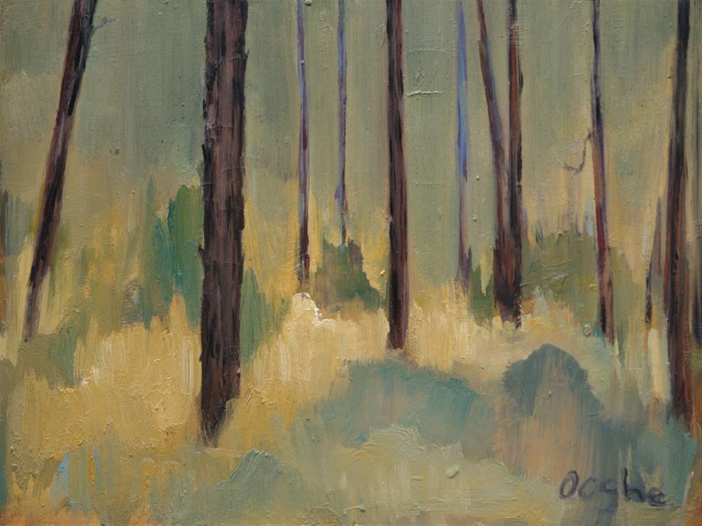 """Golden Pines"" original fine art by Angela Ooghe"
