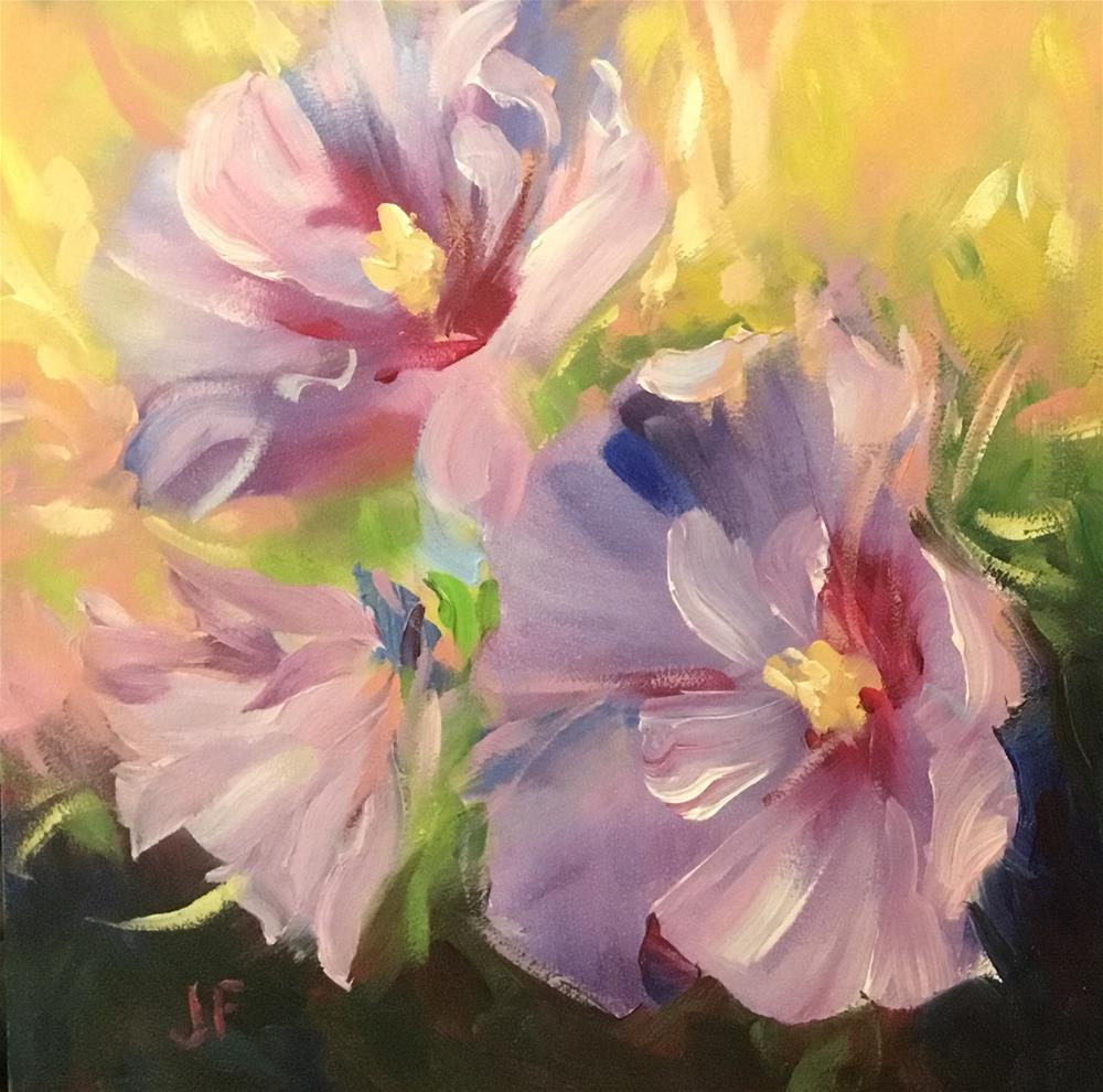 """Rose of Sharon"" original fine art by Jean Fitzgerald"