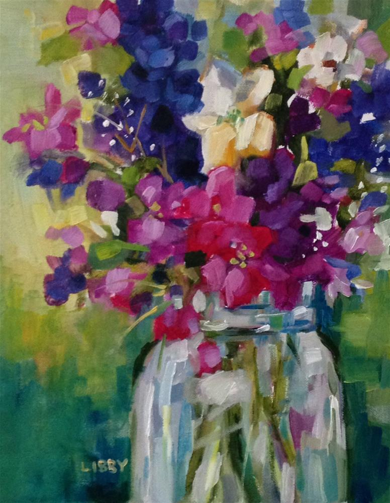 """""""Exuberant Bouquet"""" original fine art by Libby Anderson"""