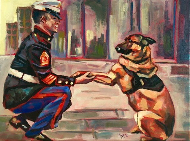 """#276: K9 Lucca"" original fine art by Piya Samant"
