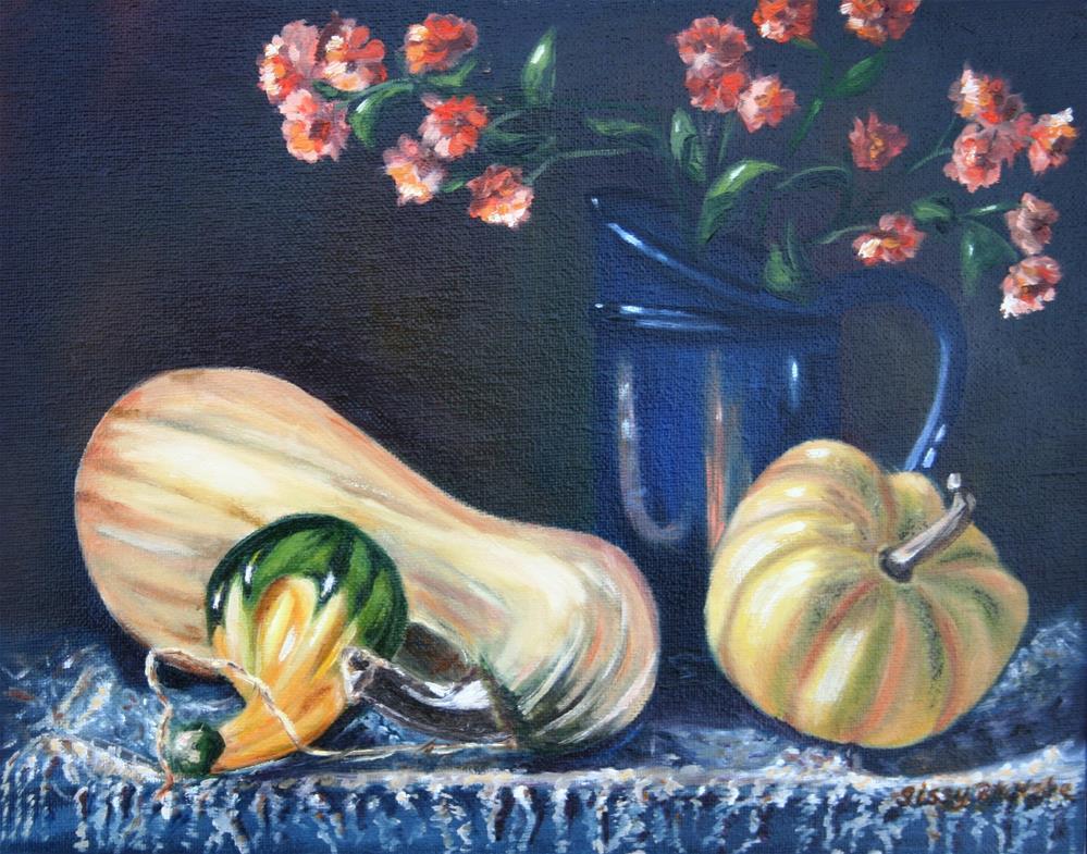 """""""Gourdes Galore"""" original fine art by Sissy Blakslee"""