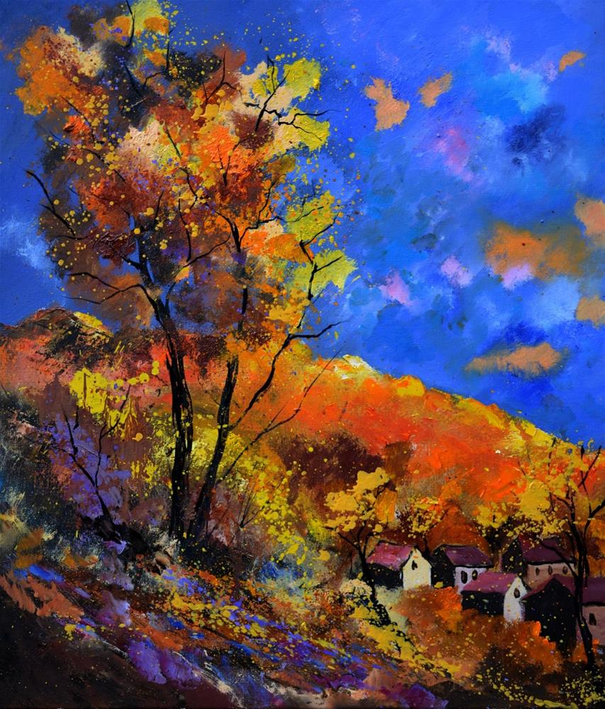 """Autumn 675110"" original fine art by Pol Ledent"
