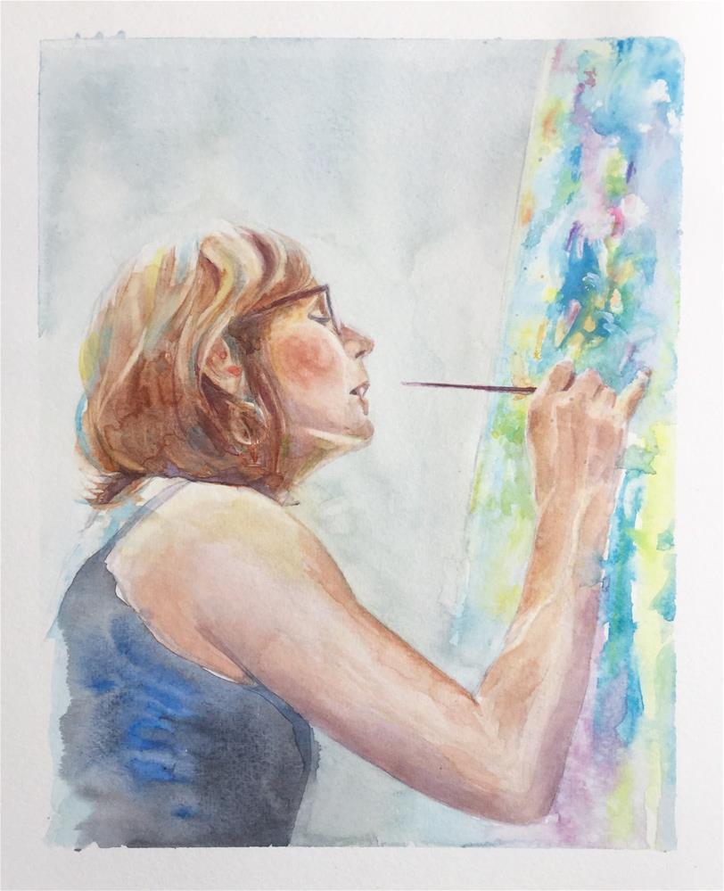 """Portrait of an Artist"" original fine art by Christy Obalek"