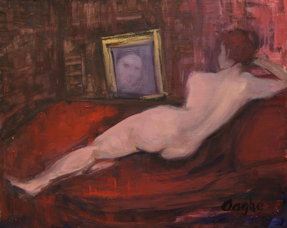 """Venus After velasquez"" original fine art by Angela Ooghe"