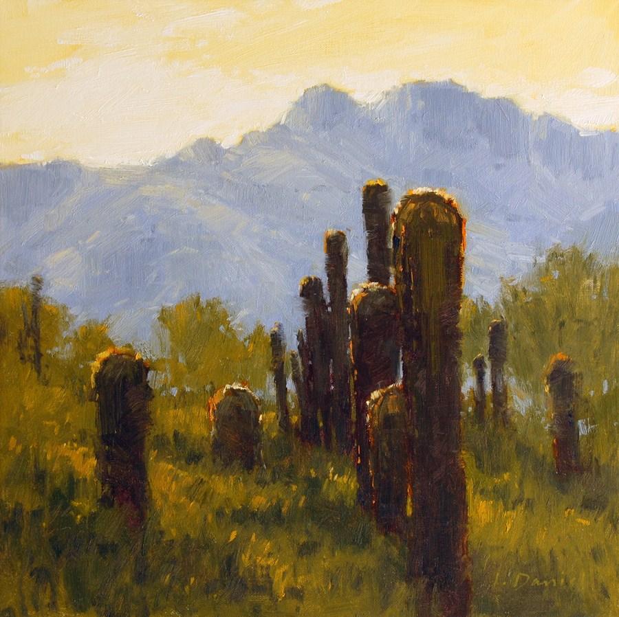 """Cactus Salute"" original fine art by Laurel Daniel"