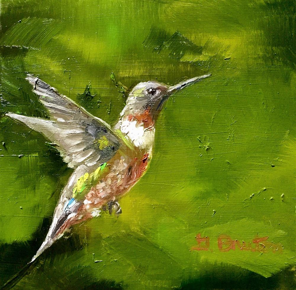 """Hummer"" original fine art by Gary Bruton"