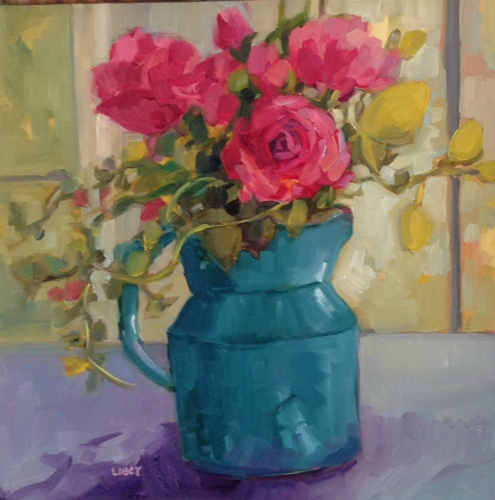 """Rose Solitude"" original fine art by Libby Anderson"
