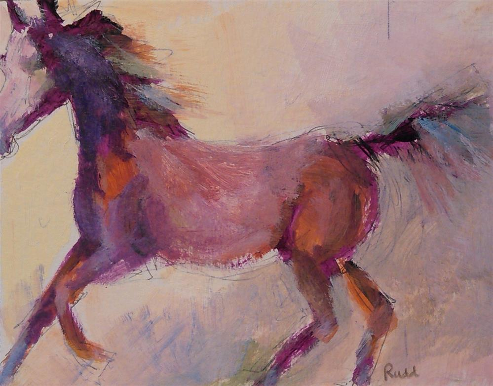 """Free Pony"" original fine art by Ann Rudd"