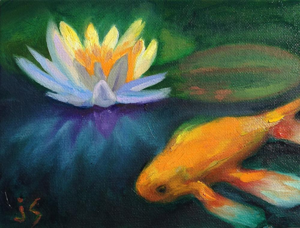 """Lily Koi"" original fine art by Johnna Schelling"