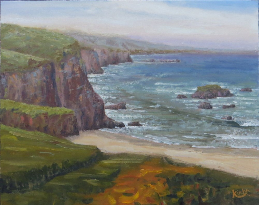 """Sea Cliffs"" original fine art by Richard Kiehn"