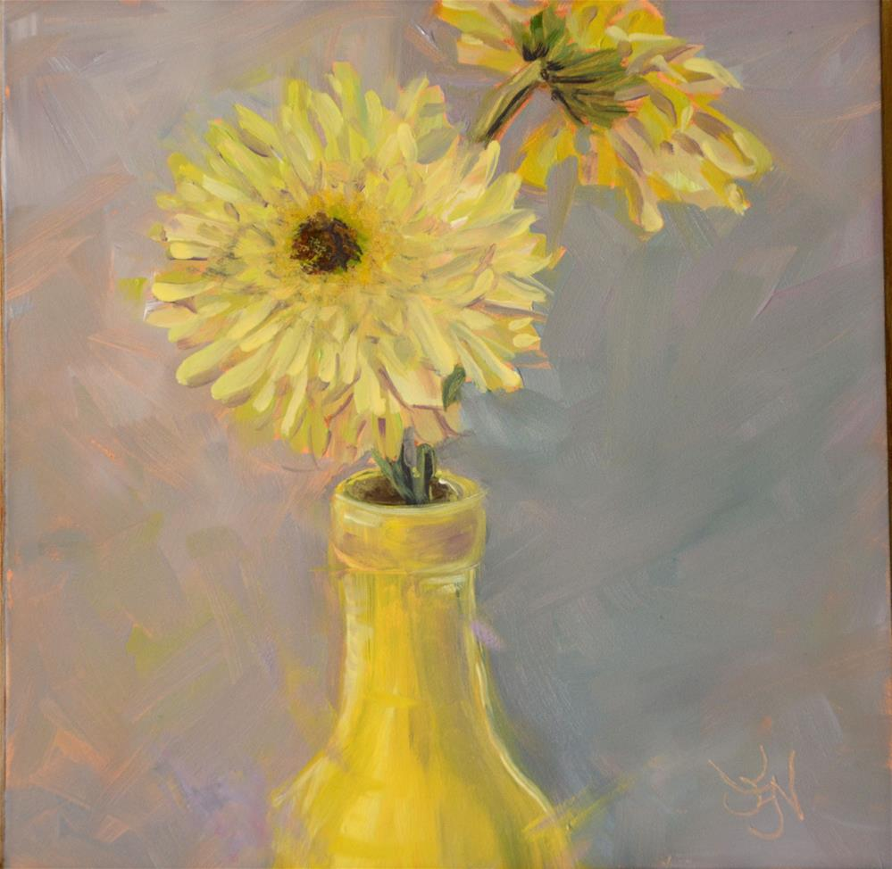 """Yellow Bottle Love"" original fine art by Jan Jackson"