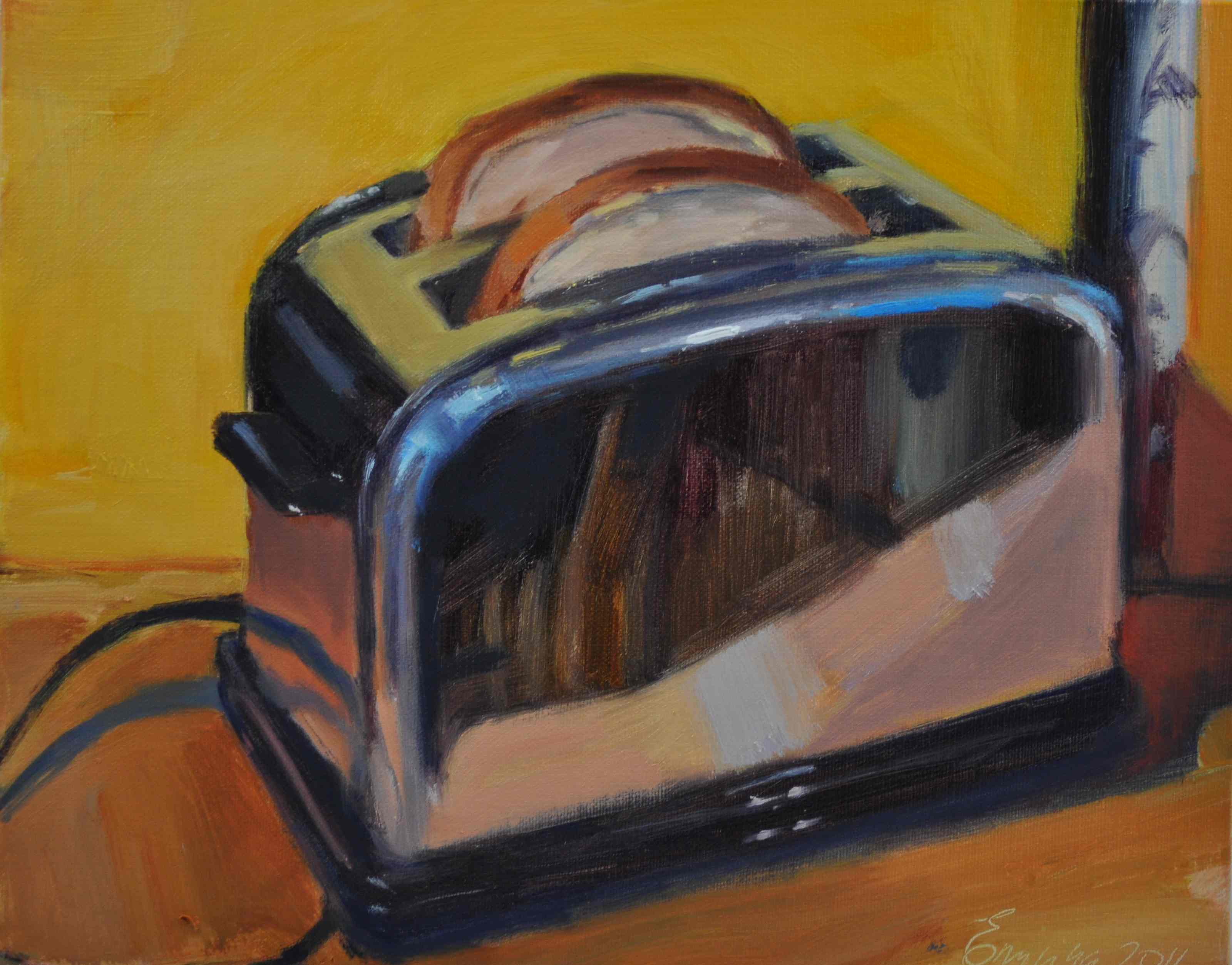 """Reflection oil on linen ,8x10"" original fine art by Emiliya Lane"