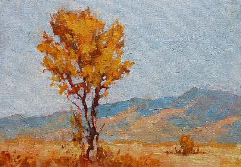 """Owens Valley Cottonwood II"" original fine art by Melanie Thompson"