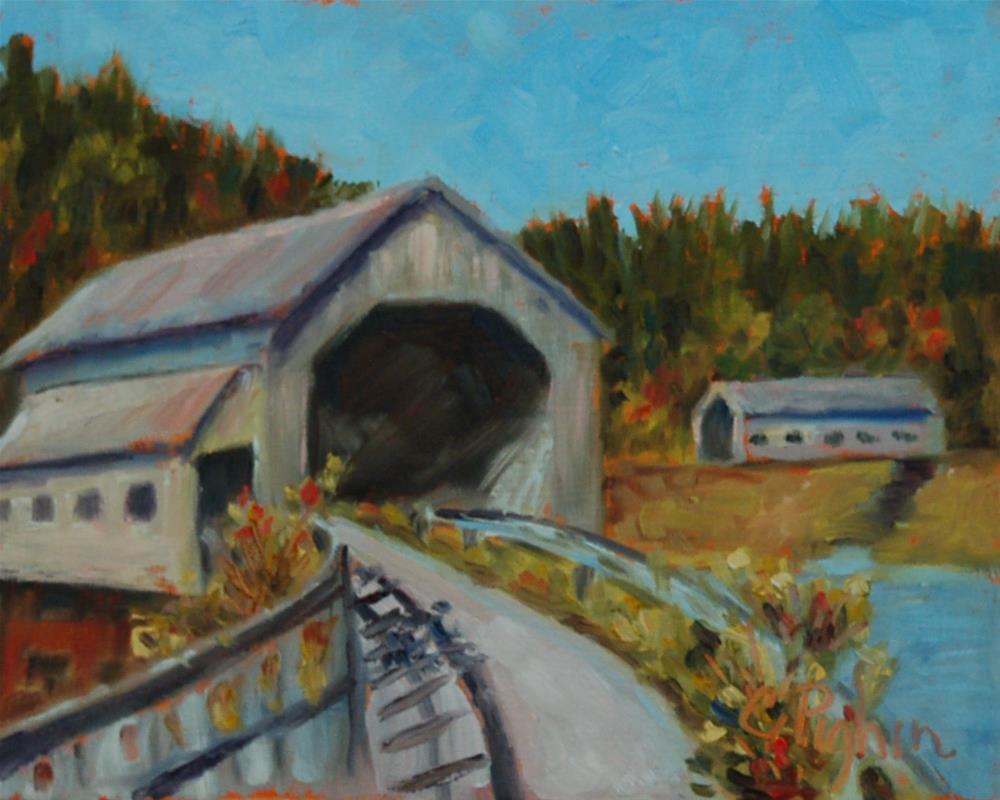 """Twin Bridges"" original fine art by Carol Pighin"