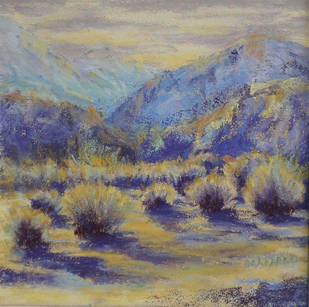 """Winter Morning Riverbend"" original fine art by Becky Chappell"