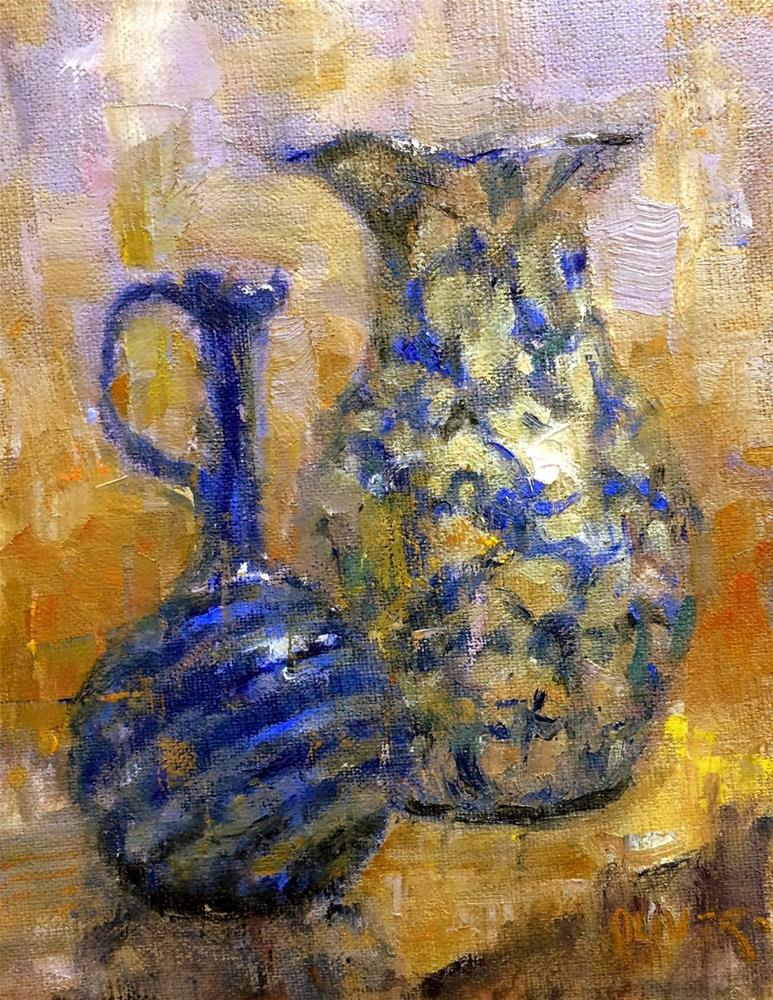 """Demo Vases - day 6"" original fine art by Julie Ford Oliver"