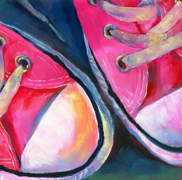 """""""Toe to Toe"""" original fine art by Brenda Ferguson"""