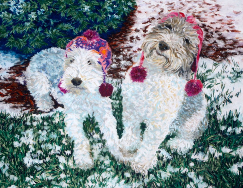 """Duffy & Lilly"" original fine art by Jill Bates"