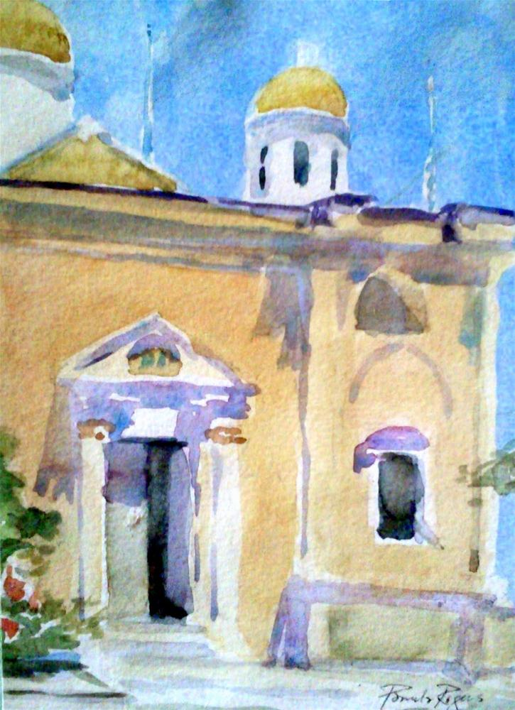 """In Agia Triada, Crete"" original fine art by Pamela Jane Rogers"